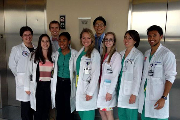 Medical students at UF Health Jacksonville
